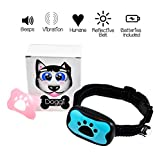 No Bark Vibration Collar Doggi by XNM Creations, Humane Dog Training Collar with Safe Vibration, No Shocks, Beep, Ultra Light and Portable - for Small, Medium and Large Dogs