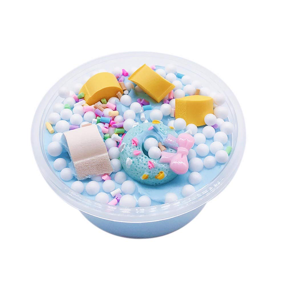 BODOAO Slime New Candy Donut Cotton Mud Puff Slime Putty Scented Stress Kids Clay Toy 60ml