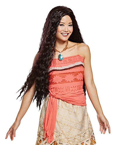 Disguise Women's Moana Deluxe Adult Wig, Brown, One Size ()