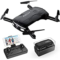 Drone with Camera Live Video RC Pocket Mini Drone Easy to...