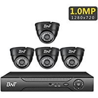 【BNT】 Home Security Systems 720P 4 Dome Cameras Indoor 4Channel AHD DVR Night Vision Remote View Home CCTV Surveillance Video Kit