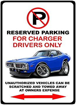 1973-74 AMC Javelin Muscle Car-toon No Parking Sign
