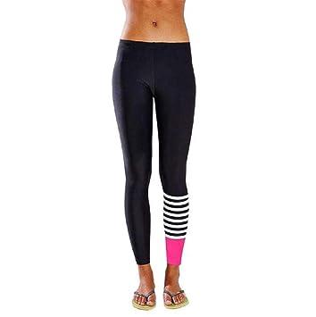 saisiyiky Pantalón Chandal Mujer Yoga pantalón Mujer Runing Color ...