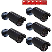 VideoSecu 5 x Fake Dummy Security Cameras Fake Bullet Infrared LEDs Flashing Light Home CCTV Surveillance CNJ
