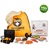 Kids Explorer Kit | Outdoor Kids Toys for Boys & Girls | Backyard SAFARI HAT Binoculars Flashlight Bug Catcher Compass & More| Educational STEM Kids Camping Gear & Kids Hiking Kit for Young Explorers