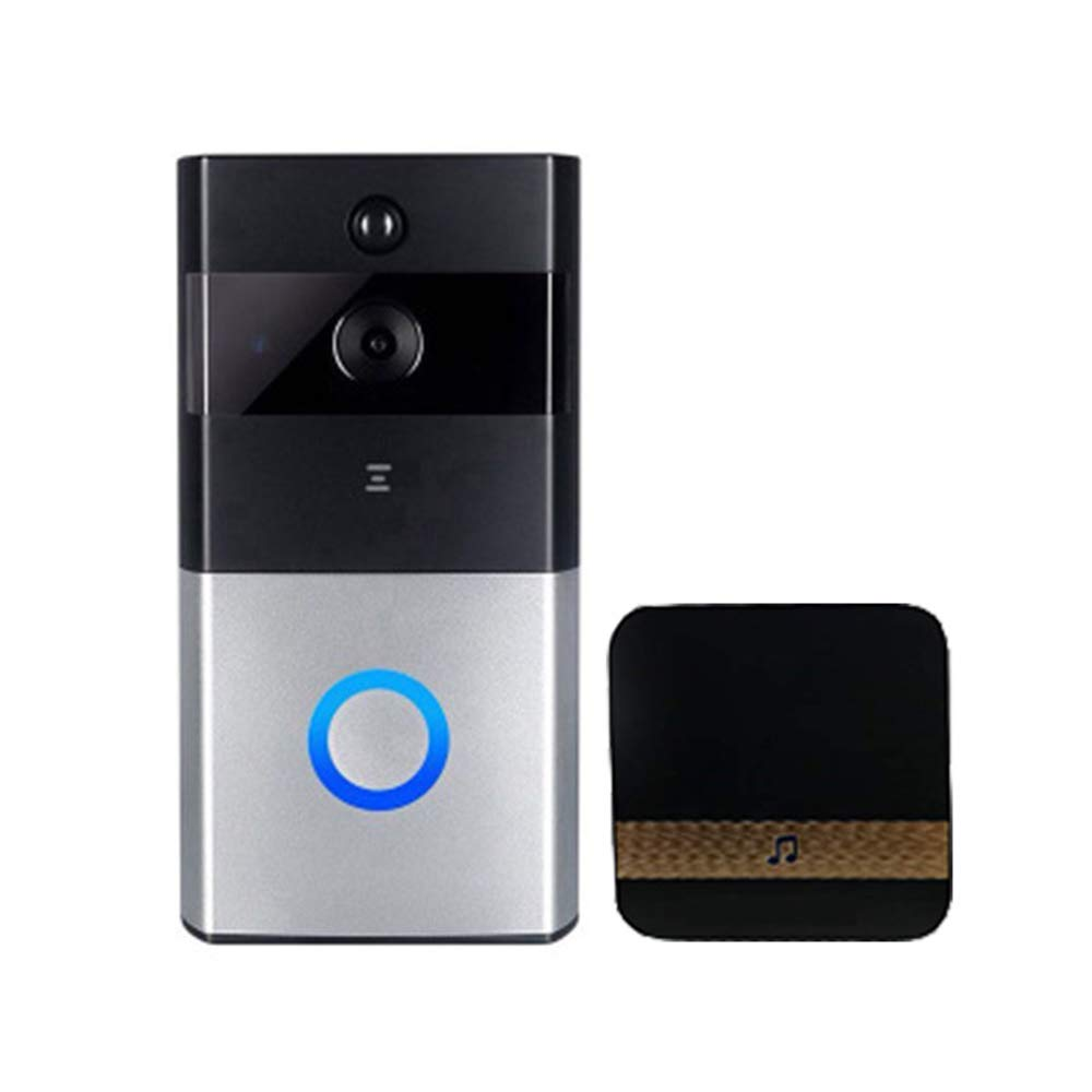 GNB Video Doorbell Wi-Fi Enable-720p HD-Video, Zwei-Wege-Talk, Bewegungserkennung, WLAN, Satin Nickel