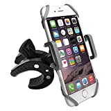 Bike Phone Mount Motorcycle Bicycle Holder, 360 Degree Rotatable Cell Phone Mount, Universal ATV, Bicycle Handlebar Holder for iPhone 7/7Plus/6s/6Plus/5S, Android Smartphones