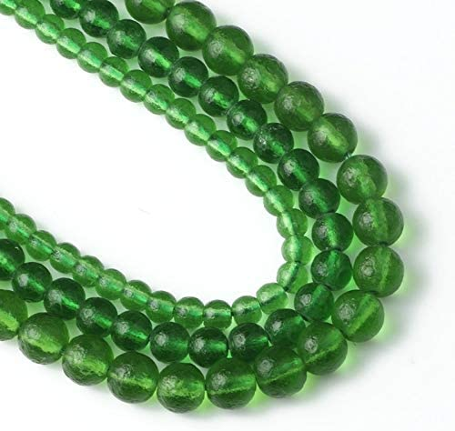 Amazon.com: Natural Green Czech Meteorite Glass Beads 6mm-10mm Moldavite Energy Crystal Round Beads for Bracelet DIY Jewelry 15
