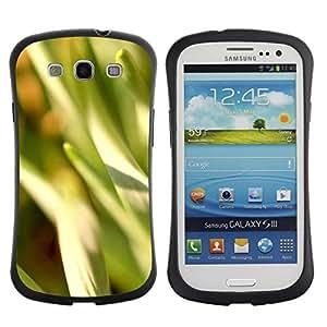 Paccase / Suave TPU GEL Caso Carcasa de Protección Funda para - Abstract Crops - Samsung Galaxy S3 I9300