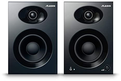 Alesis Elevate 4 40-Watt 4-inch Powered Desktop Studio Speakers PA & Stage at amazon