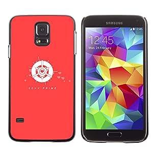 EJOY---Cubierta de la caja de protección la piel dura para el ** Samsung Galaxy S5 ** --Primer atractivo rojo