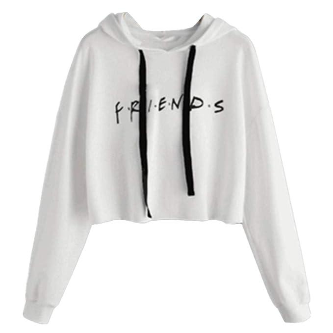 Sudadera Friends Mujer Serie con Capucha Casual Pullover Hip Hop Danza Camisetas Mejores Amigas Manga Larga