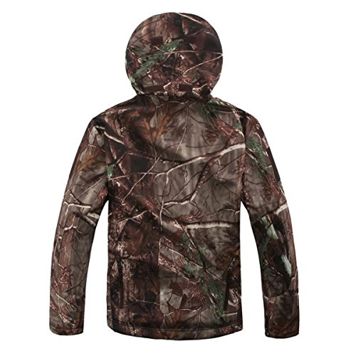 Review Eglemall Men's Outdoor Hunting Soft Shell Waterproof Tactical Fleece Jackets (Large, Tree Camo)
