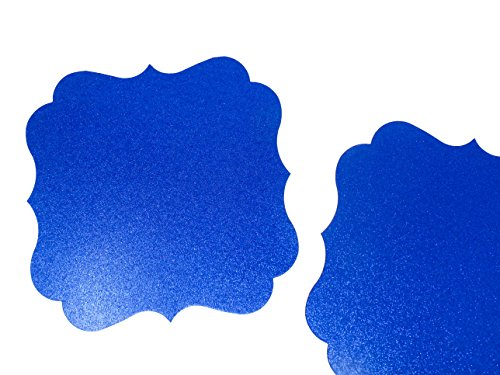 PaperGala Glitter Chargers Paper Board Placemats for Plates Weddings 10 Pack (Royal Blue)