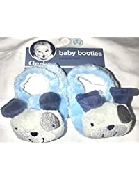 Gerber Baby Boy Booties, Size 0-6 Months, Blue Dog