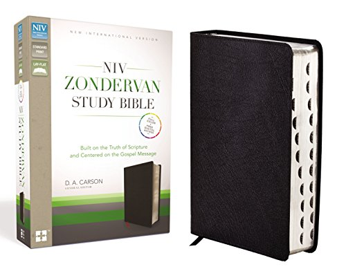 NIV Zondervan Study Bible, Bonded Leather, Black, Indexed: Built on the Truth of Scripture and Centered on the Gospel Message