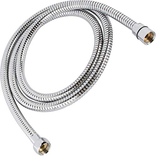 Handheld Grooming - Flexible 304 Stainless Steel Shower Hose - Universal Fit - Fits All Handheld Shower Heads And Sprayers - Real 304 Stainless Steel (1, 6 ft)