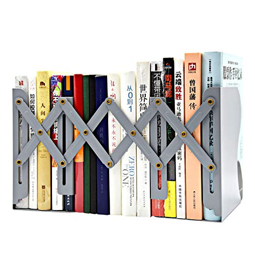 Bookends Adjustable Metal Bookends Desktop Organizer Office Storage Rack Adjustable Display Bookshelf Decor for Bedroom Library Office School Book - Storage Bookends
