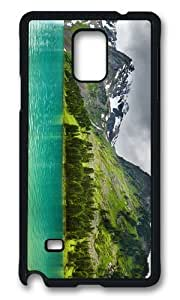 MOKSHOP Adorable Lake in Mountains Hard Case Protective Shell Cell Phone Cover For Samsung Galaxy Note 4 - PCB
