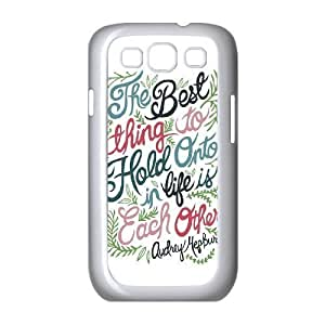 Audrey Hepburn Quote Unique Design Cover Case with Hard Shell Protection for Samsung Galaxy S3 I9300 Case lxa#904025 Kimberly Kurzendoerfer