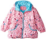 Wippette Little Girls' Toddler Puffer with Heart Leopard Print, Pink, 2T