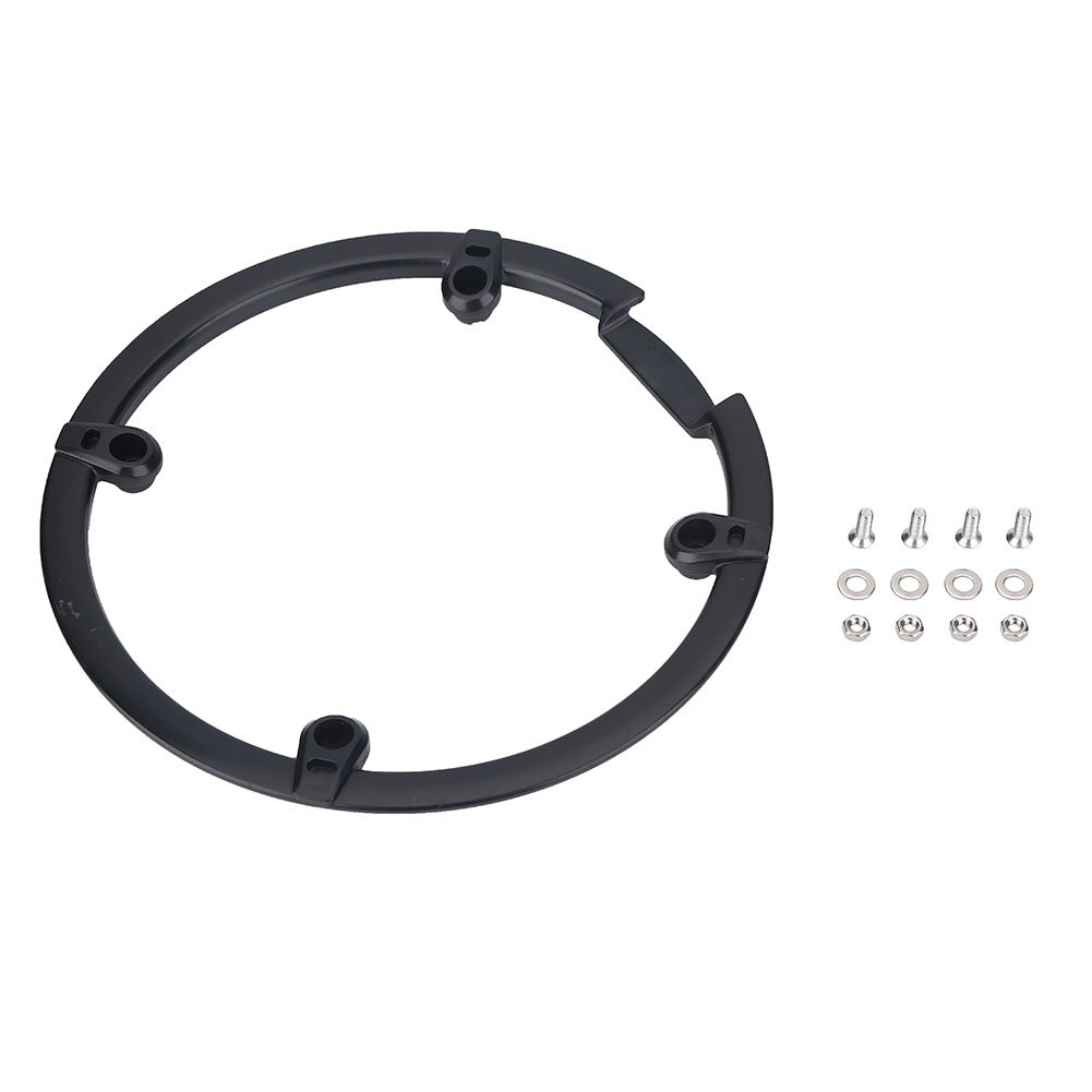 Chain Guard Protector, Black Plastic Chain Wheel Crankset Cover for Mountain Bike