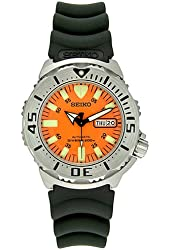 Seiko SKX781K3 Men's Orange Monster Automatic Dive Watch with rubber strap