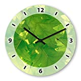Leaves Wooden Wall Clock Silent Non-ticking Wall Clocks Decorative for Living Room Bedrooms Nursery Clock Children Watch
