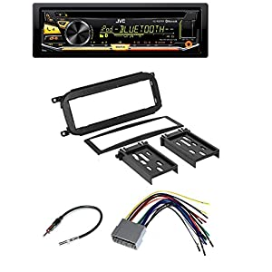 Chrysler Jeep Dodge Car Audio Radio Installation Dash Kit + Harness + Antenna And JVC KD-RD97BT CD/MP3/WMA Player W/ Bluetooth iHeart Radio Pandora Front USB AUX