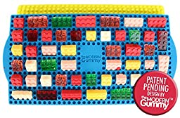 New STACKING 50 Cavity Building Block Candy Mold + Base Plate Style LID + Figure Mold + Dropper + Recipe PDF by the Modern Gummy   Patent Pending Molds Made with PURE LFGB Silicone for fans of LEGO