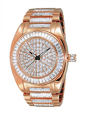 Adee Kaye Men's Quartz Brass Dress Watch, Color Rose Gold-Toned (Model: AK6175-MRG)