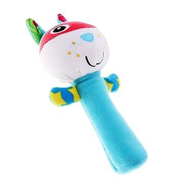 Soft Sound Animal Handbells Newborn Baby Child Funny Toys Plush Squeeze Rattle