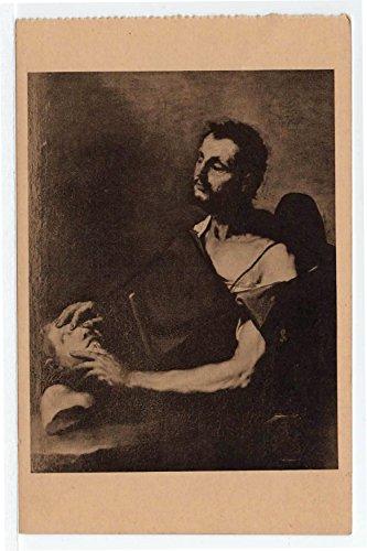(Chateau de Villandry, The Blind Sculptor, Villandry, France Vintage Original Postcard #4052 - Early 1900's)
