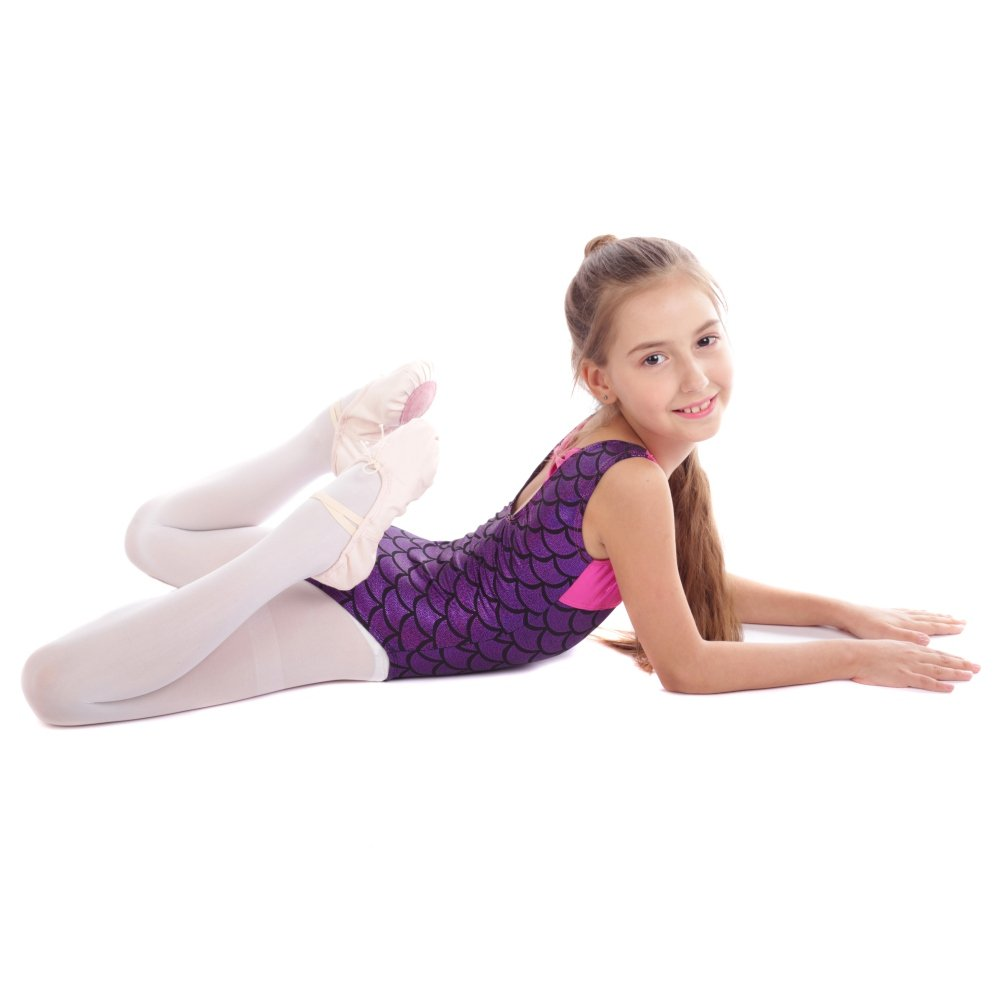 Blaward Ginnastica Body per Ragazze Senza Maniche Balletto Danza Ballet Artistica Squame
