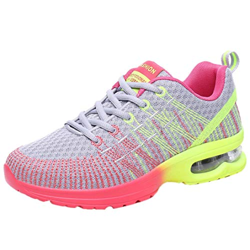 Para Deporte Gris Casuales Moda Mujeres Correr las Transpirable De Zapatos Cuna Cómodo Mujer Deportivas Zapatillas Deportivo qZAgOW