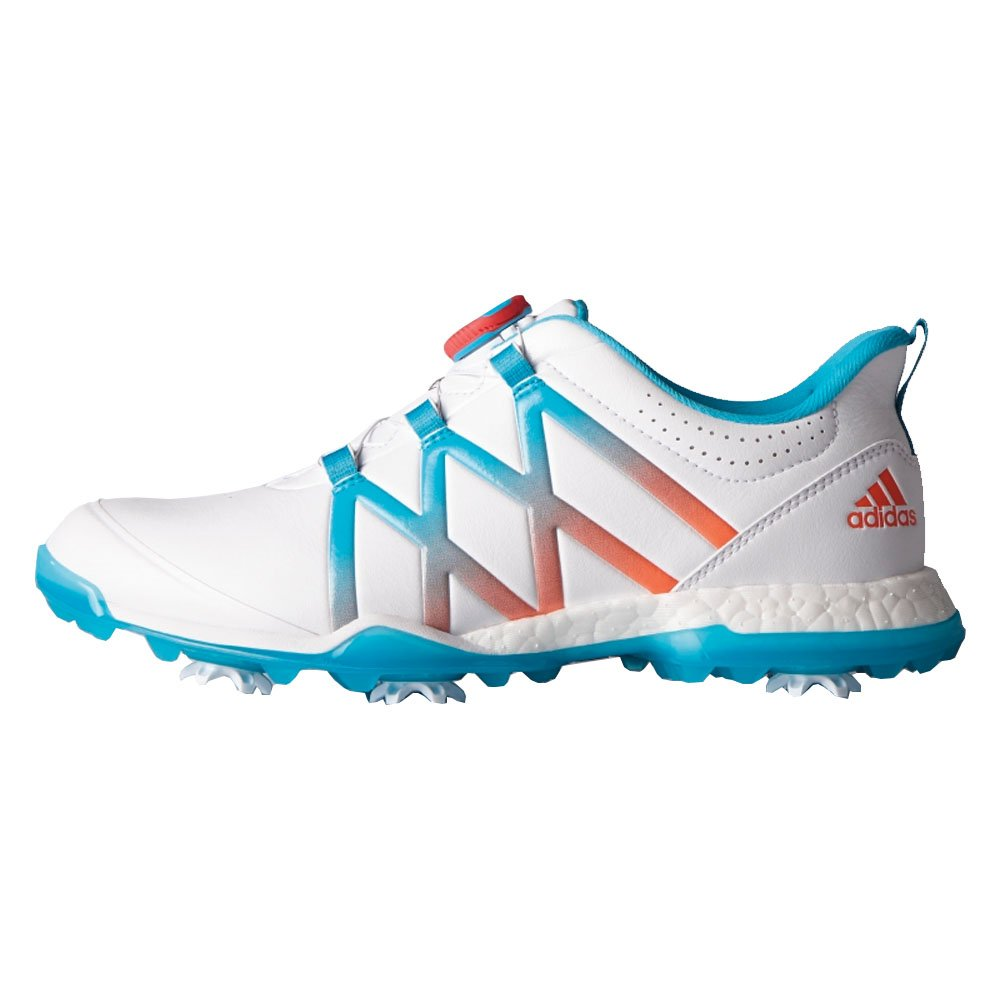 adidas Women's W Adipower Boost Boa Golf Shoe B01IWB1CHS 9 B(M) US|Ftwr White/Energy Blue/Easy Coral