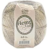 Darice HMP-1 Hemp Cord, 48-Pound, Natural, 400-Feet