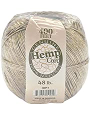 Darice HMP-1 Hemp Cord, 48-Pound, Natural, 400-Feet