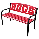 "Cheap Leigh Country University of Arkansas ""HOGS"" Metal Bench"