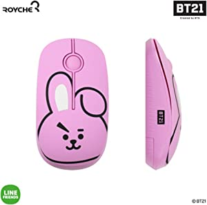 BT21 Figure Wireless Silent Mouse by Royche (Pink(Cooky))