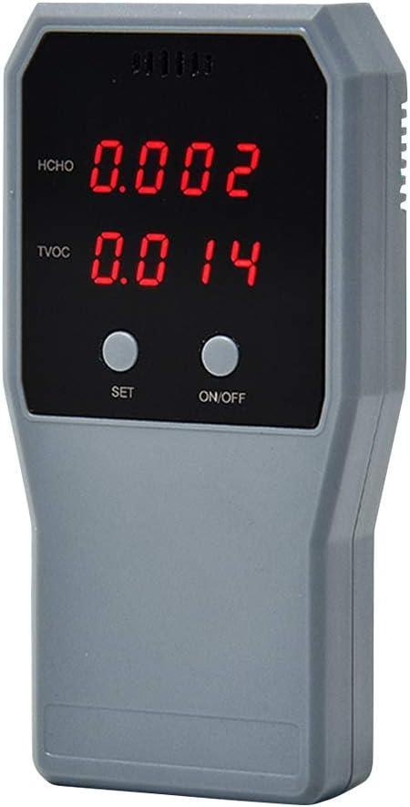 probador de aire en tiempo real con pantalla LCD probador de HCHO TVOC para interiores detector de formaldeh/ído medidor de contaminaci/ón Monitor de calidad del aire