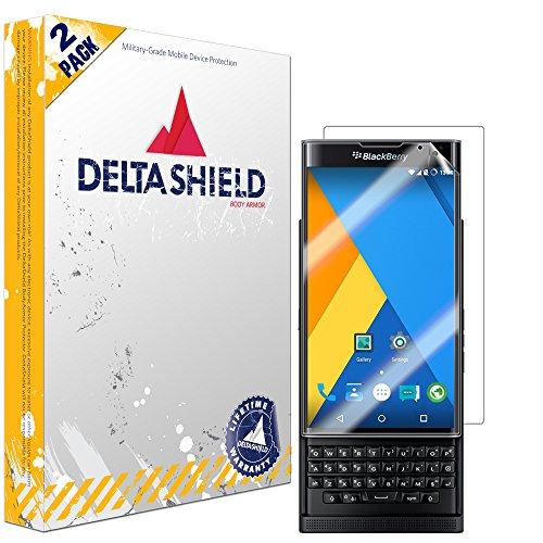 DeltaShield Full Body Skin for BlackBerry Priv (2-Pack)(Screen Protector Included) Front and Back Protector BodyArmor Non-Bubble Military-Grade Clear HD Film