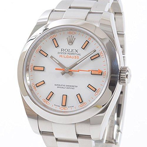 [ロレックス]ROLEX 腕時計 ミルガウス 116400 V番台(2009年) 中古[1305667] V番台(2009年) ホワイト B07DPDGFGG