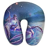 New Moon In Cancer Portable Soft U-Shape Memory Foam Travel Neck Pillow