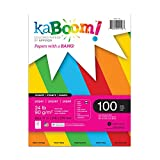 Kaboom Dynamite Primary Assorted Colored Paper, 8.5'' x 11'', 100 sheets