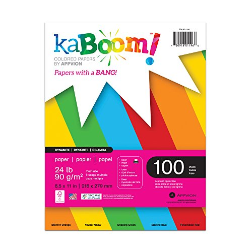 (Kaboom Volt Neon Assorted Colored Paper, 8.5