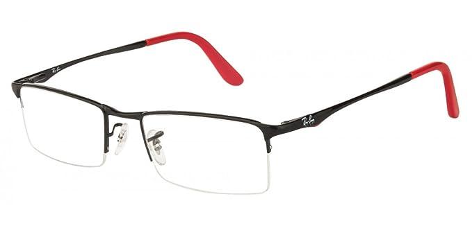 1aa14eb034f2 Ray-Ban Rectangular Eye Frame (0RX6304 2509 52)  Amazon.in  Clothing ...
