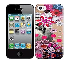 HD Colorful Painted Watercolor Pink Cute Flowers And Gray Bird Hard Phone Case For Iphone 5/5S Cover