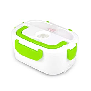 Electric Heating Lunch Box Food Heater Portable Lunch Containers Warming Bento for Home&Office Use 110V Hot Lunch Box (Green)
