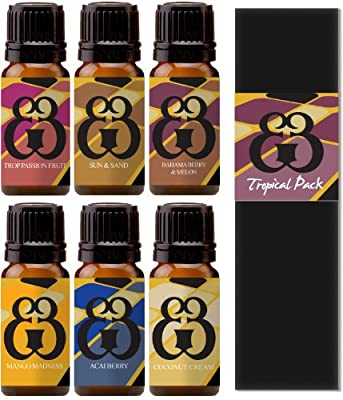 Roma Dior - Tropical Blend 6 Pack - Sun & Sand - Tropical Passionfruit - Coconut Cream - Mango Madness - Acai Berry - Bahama Berry & Melon - Fragrance Oil - 10ml
